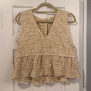 Zara tweed babydoll top